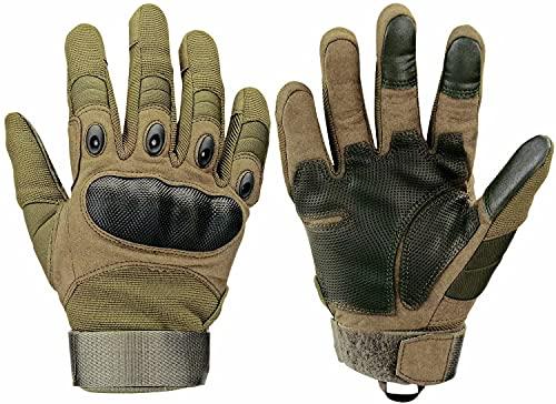 ✿KNNUDO DURO MOLDEADO: el nudillo de los guantes está hecho de un material de cuero de microfibra resistente, por lo que puede soportar el desgaste. ✿ PALMA RESISTENTE A LA ABRASIÓN: los guantes aumentan la almohadilla de protección en su palma, pueden proteger sus manos del impacto y la abrasión ✿WDISEÑO DE MUÑECA AJUSTABLE: cierre de velcro ajustable en la muñeca y el dorso de la mano, es muy práctico para el uso diario y deportes al aire libre ✿ELECCIONE SU TELÉFONO: Puede tocar la pantalla de su teléfono cuando usa estos guantes que están equipados con la función de tocar amigable para dos dedos del guante ✿OCASIONES: Estos guantes se utilizan ampliamente en guantes de caza, guantes de senderismo, guantes de montar, guantes de trabajo, guantes de motocicleta, guantes de ciclismo, guantes de operador, etc.