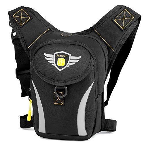 Tamaño: Bolsa: Altura 26,5 cm (10,43 pulgadas), longitud 14,5 cm (5,7 pulgadas), grosor 7,5-10 cm (2,95-3,94 pulgadas) Material: hecho de material de tela oxford, de alta calidad y duradero Como regalo: la bolsa de transporte es una buena opción para su novio o esposo en algunos días especiales. Aplicación: esta bolsa de pierna es perfecta para andar en bicicleta, hacer senderismo, acampar, pescar u otras actividades al aire libre. Gran capacidad: la bolsa de pierna puede contener varios artículos como billetera, gafas de sol, banco de energía, cigarrillos, teléfonos, llaves, pañuelos de papel u otras herramientas de utilidad