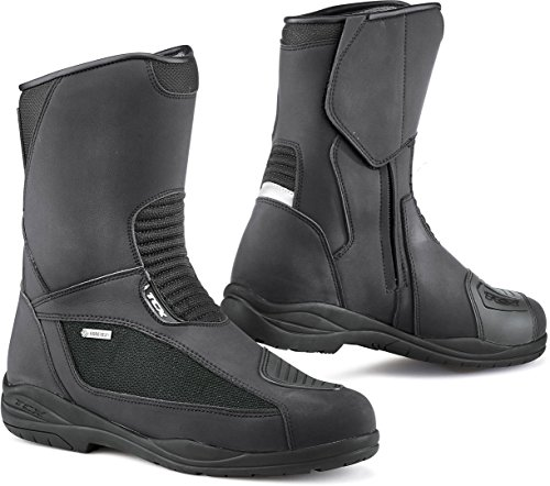 TCX Explorer Evo Gore-Tex - Botas de moto para mujer, Hombre, 7124G-NERO-36, negro, 36 EU