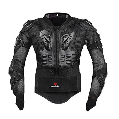 Fastar Chaqueta de Moto,Chaqueta Protectora - Profesional de Motocicleta Proteccion del Cuerpo Motocross Racing Armadura de Cuerpo Entero Spine Chest (Negro, M)…