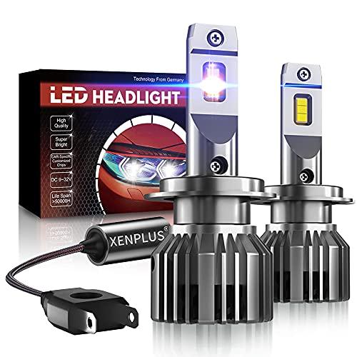 【ULTRA-HIGH BRIGHTNESS】Bombillas LED H7 para coche se fabrican con LED 5530 de alta calidad.El flujo de eficiencia luminosa es 2 veces mayor que el del chip CSP / COB.350% más brillante que el halógeno H7 original.5 veces la distancia de iluminación que las bombillas de filamento antiguas. 60W/Pareja de alta potencia,10600LM/Pareja, 6500K blanco frío.Proporcione la mejor visibilidad de conducción durante la noche,sin cegar el tráfico que se aproxima.La mejor opción para actualizar sus bombillas. 【360°AJUSTABLE PATRÓN DE VIGA】Luces LED H7 coche viene con el collar de montaje ajustable en todos los grados. El clip ajustable permite obtener un patrón de iluminación óptimo. Fácil instalación, y lo giraría para obtener un patrón de dirección de haz correcto y claro sin bloquear el tráfico que se aproxima y proteger el automóvil que se aproxima.NOTE:Si este adaptador de luz LED no es adecuado para su vehículo, puede verificar el adaptador en esta página, como L04 / L05, etc. 【FÁCIL DE INSTALAR】Luz H7 coche LED Anillo de base en el bulbo puede ser demolición, plug & play, El diámetro de la base del radiador es de solo 27 mm,puede montar fácilmente estas lampara H7 LED coche en el reflector del faro. fácil de instalar, la instalación solo toma 10 minutos. NOTA: Después de instalar la luz del automóvil, si la bombilla parpadea, el código de error de advertencia OBC, la luz se apaga, etc., indica que necesita un decodificador CANBUS,ASIN:B093P84Q4W 【Refrigeración Fuerte】 Disipación calor bidireccional, Tome latón con excelente conductividad térmica como sustratos,Diseño de sustrato de cobre premium de doble cara para una mejor disipación del calor.El kit de conversión led H7,Ventilador silencioso de alta velocidad incorporado 12,000r/min, apenas se puede escuchar el ventilador cuando se trabaja. IP68 a prueba de agua, adecuado para -40 ℃ ~ + 150 ℃ condiciones complicadas 【Larga vida】 inicio instantáneo,construido en circuito IC (regulador de corriente),evita el daño del LED p