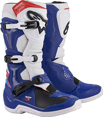 TECH 3 Off-Road Motocross Boot BLUE/WHITE/RED (8)