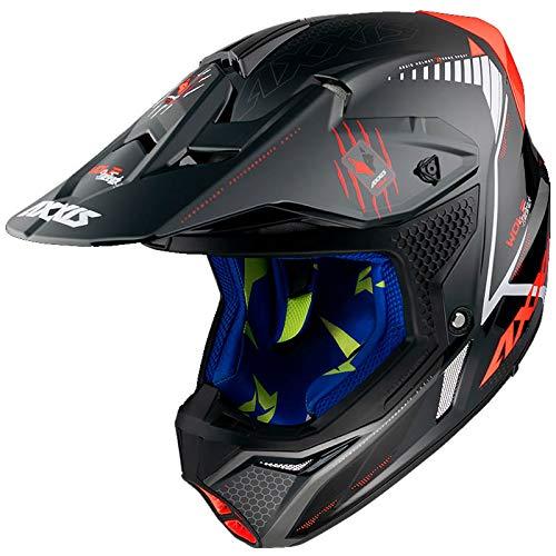 Espectacula casco Motocross en colores y diseño. Interiores estampados a juego del casco. Mayor calidad y acabados excelentes.