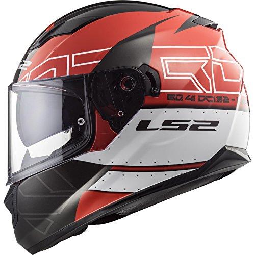 LS2 - Casco integral Stream Evo KUB, talla XXL, color rojo y negro