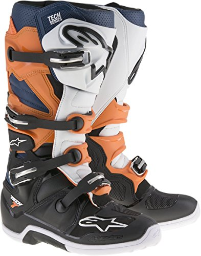 Alpinestars 8 Black Orange White Blue