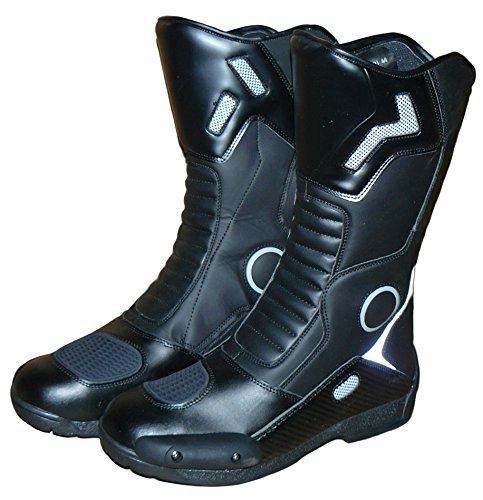 Protectwear Botas de Moto, Negro, Talla 42