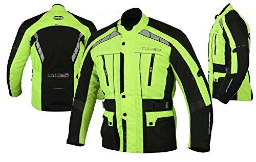 MBS MJ21 James Motocicleta Motocicleta larga chaqueta de viaje textil (amarillo, XL)