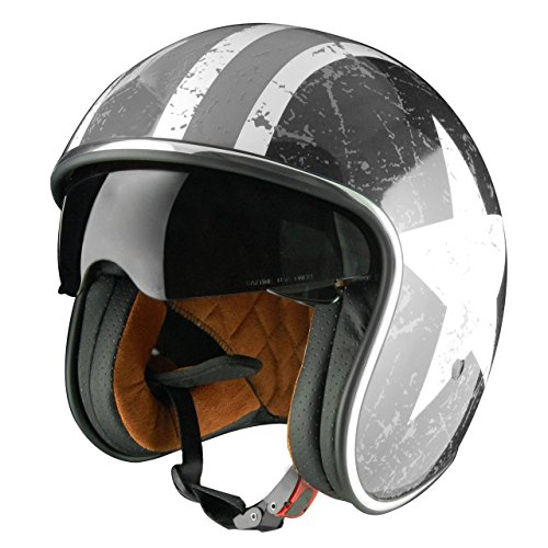 El nuevo casco Sprint Jet es una reinterpretación de un clásico atemporal con un visor abatible adicional Las almohadillas de mejillas son extraíbles y lavables Sistema de retención micrométrica Size: S