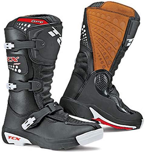TCX Comp-kid 9103 - Botas de moto unisex para ninos, talla 32, color negro