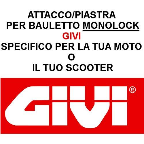 Givi - Casquillo para Placa de baúl específico SR5600M Piaggio MP3 Yourban 300 2011 > 2019 Monolock