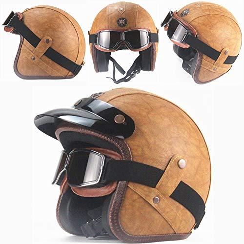 Tamaño del casco - S: 55-56CM / M: 57-58CM / L: 59-60CM / XL: 61-62CM / XXL: 63-64CM. Varios tamaños son adecuados para niños y adultos. Material: Se utiliza ABS de alta densidad, cuero PU, resistente a los impactos, resistente a la penetración, peso ligero Características: Robusto, resistente a los impactos, garantiza una protección óptima de la cabeza, con gafas y visera. Sistema de respiración: Máscara A prueba de arena, a prueba de polvo, desmontable, estilo antiguo, mano de obra exquisita, adecuada Seleccione : Para averiguar el tamaño correcto, mida la circunferencia de su cabeza por el área más ancha, por encima de las orejas, seleccione el modelo de casco de acuerdo con el tamaño de la circunferencia de la cabeza.