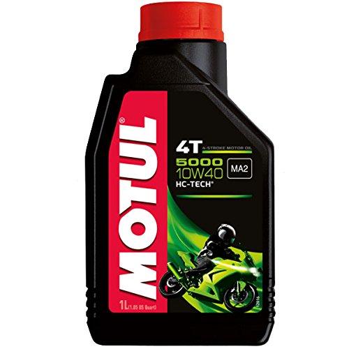 Motul Aceite para motor de moto, 5000, 4T, 10W40, mineral, 1 L