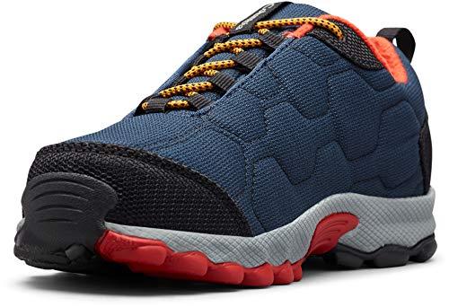 Columbia FIRECAMP SLEDDER 3 Zapatos multideporte impermeables para niños, Azul(Collegiate Navy, Flame), 38 EU