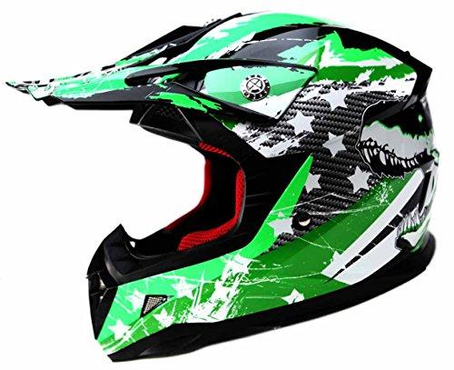 Casco Motocross Nino ECE Homologado - YEMA YM-211 Casco de Moto Infantil Cross Integral Enduro Infantil para Mujer Hombre Adultos, M