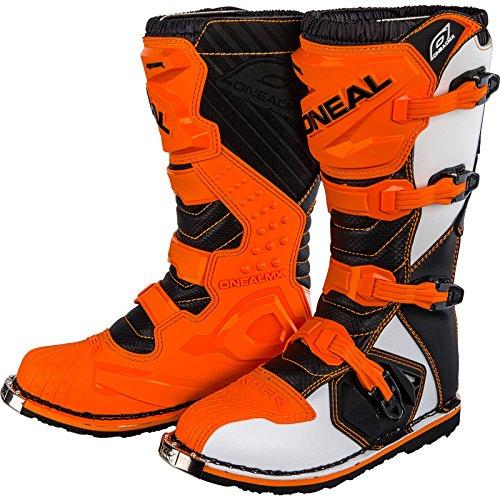 O'NEAL | Botas de Motocross | Enduro de Motocicleta | Paneles de plástico moldeados por inyección, hebillas de fácil ajuste, interior de malla de aire | Bota RIDER EU naranja | Naranja | Talla 42/9