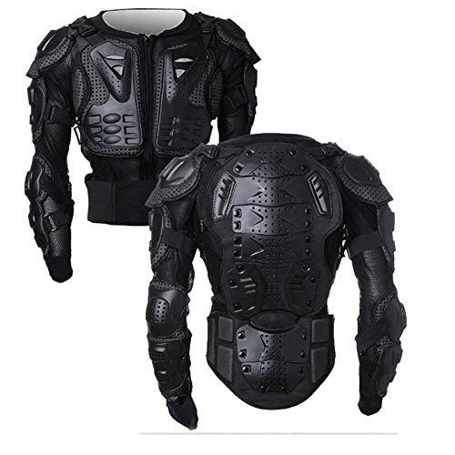 WILDKEN Chaqueta de Proteccion para Motocross Motos Ropa Protectora de Cuerpo Armadura Completo Profesional de Motocicleta Deportiva para Hombres Columna Vertebral Hombro Mujer Pecho (Negro, L)