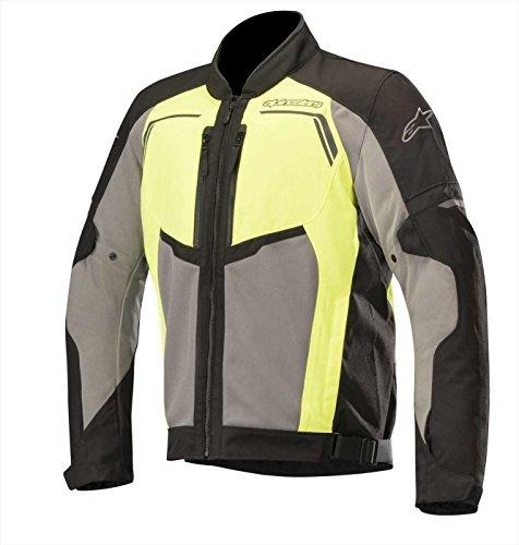 Alpinestars Chaqueta de motorista Durango Air Jacket negro, gris oscuro y amarillo fluorescente, negro/gris/amarillo neón, XL