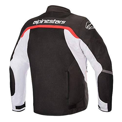 Alpinestars Chaqueta moto Viper V2 Air Jacket Black White Bright Red, Negro/Blanco/Rojo, S