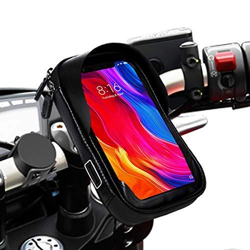 Soporte movil Moto Bicicleta Bici Impermeable Funda Compatible con Smartphones de hasta 6.9