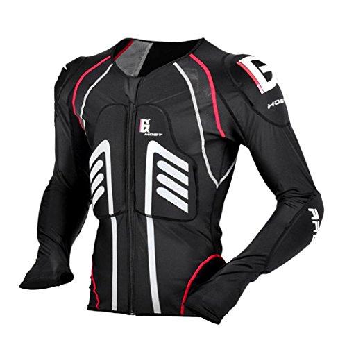 Sharplace Chaqueta para Hombres Armadura Proteccion de Espalda Codo Hombro de Motoristas Ciclistas - Negro L