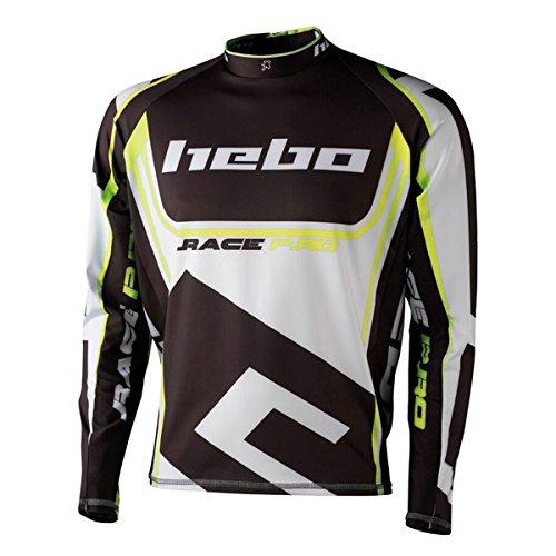 HEBO HE2172YXL Trial Race Pro II Camiseta, Amarillo, Talla XL