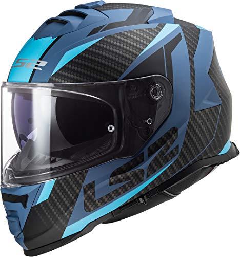 LS2 FF800 Storm Racer Matt Blue Negro Azul L L