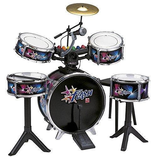 Caja y tom con pies individuales 5 ritmos de batería Desarrolla habilidades creativas Con 2 tambores inclinables Utiliza pilas 3xLR6/AA 1,5v (no incluidas)