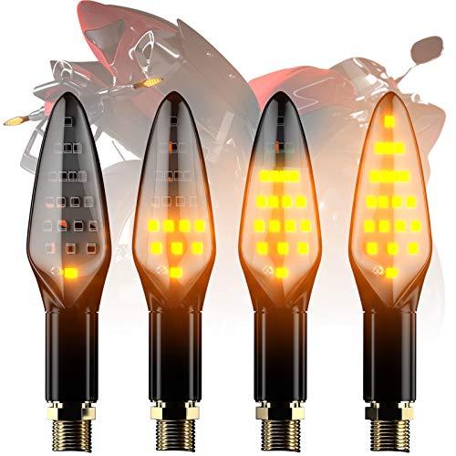 Intermitentes Led Moto Universales Homologados utilizan bombillas LED formadas alrededor, led con alto brillo, falla de poca luz, rendimiento estable y larga vida, bajo calor y bajo consumo de energía. Intermitentes Led Moto Homologados con luz intermitente con certificación E-MARK, más seguridad. Si necesita un certificado de E-Mark, contáctenos por correo electrónico. Intermitentes Led Moto Homologados ya incorpora relé de flash LED con 50-120 veces / min. Intermitentes Led Moto Homologados con caucho flexible de alta tenacidad para evitar caídas accidentales de manera efectiva. No se conecte con el relé de flash halógeno, de lo contrario, el indicador de motocicleta no puede mostrarle el efecto del agua que fluye.