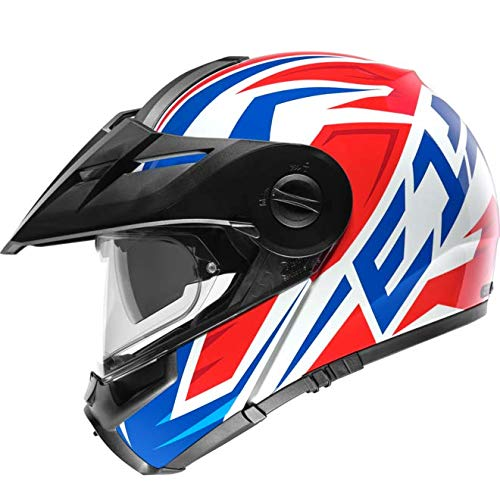 Las características y las funciones del casco abatible se combinan con el aspecto y la sensación de un casco adventure. Seleccione el gráfico deseado junto con su tamaño y deposite el producto en la cesta.