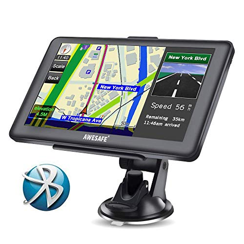 marca AWESAFE GPS con Mapa de Europa Toda la Vida gratis Pantalla con Bluetooth