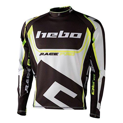 HEBO HE2172YS Trial Race Pro II Camiseta, Amarillo, Talla S