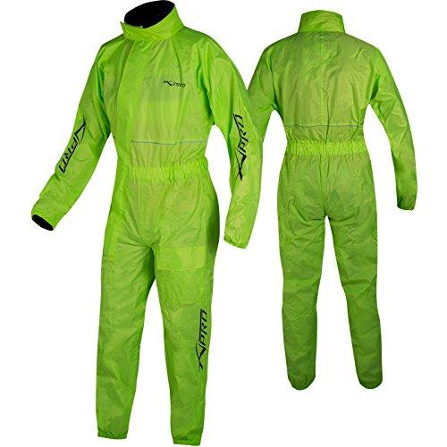 Textil de alta resistencia. Protege de la lluvia y el viento. Diseño ergonómico para un buen ajuste . Puños y cintura elástica. Nuevo y de alta calidad. 100% poliéster impermeable. Fácil de usar y cómodo de llevar. IMPORTANTE comprobar el tamaño antes de comprar.