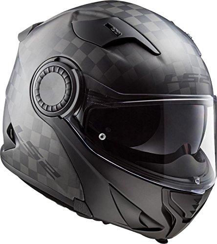 LS2 NC Casco per Moto, Hombre, Negro, L