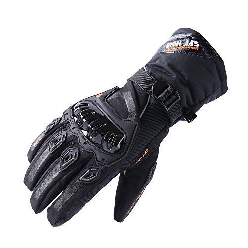 IRON JIA'S Guantes de motos Invierno calido impermeable guantes de proteccion a prueba de viento Guantes Luvas modelos de actualizacion (puede pantalla tactil)