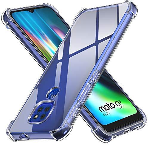 [Compatibilidad] --- Compatible con Motorola Moto G9 Play / Motorola Moto E7 Plus / Motorola Moto G9. [Mantente Original] --- Su TPU transparente es antiamarilleante y permite mostrar el aspecto original de tu teléfono. Ligero y delgado, no agregue abultar a su teléfono. El diseño interno de pequeños puntos evita una marca de agua fea contra la parte posterior y los lados del teléfono. Además, es resistente a huellas. [Diseño Resistente a Los Golpes] --- Carcasa esquinas tienen bolsas de aire, pueden reforzar la protección del teléfono cuando cae en el suelo, puede mitigar con eficacia daños en el teléfono. [Pantalla y Protección de La Cámara] --- Funda from iVoler no solo proporciona un bisel de 1 mm más alto para la cámara, sino que también da labios de 0,5 mm más altos a la pantalla para que actualice aún más la protección de la pantalla. [Ajuste Perfecto] --- Los recortes precisos facilitan el acceso a todos los botones y puertos. Botones táctiles para una respuesta rápida. Sin margen de maniobra. Al igual que el teléfono está desnudo. Fácil de instalar y quitar.