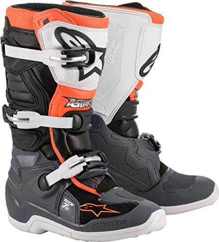 Bottes Moto Cross ALPINESTARS Tech 7S Black Gray White Orange Fluo-42