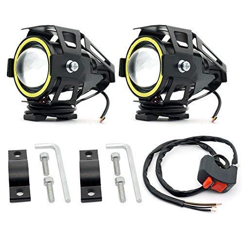 ◆ 【4 Modos】Los faros auxiliares de la motocicleta U7 tienen 4 modos: luz de carretera / luz de cruce / parpadeo / Ojos de Ángel, que se pueden seleccionar en diferentes condiciones. Cada vez que se enciende y apaga, cambiará entre estos 4 modos.de luz alta, luz baja y destellos pueden elegirse en diferentes condiciones. Cambiará entre estos tres modos cada vez que se encienda y apague. ◆【INTERRUPTOR DE ACTUALIZACIÓN】 Luz de conducción de motocicleta U7 con un interruptor de 3 velocidades, que puede controlar individualmente los ojos de ángel, que se pueden ver claramente durante el día y la noche, lo que sirve como una advertencia de seguridad. 【NOTA】 : Si el interruptor que recibió es inconsistente con la imagen, contáctenos para reemplazar el interruptor de actualización. ◆ 【Fácil de instalar, control mediante el interruptor】 Los cables rojos de las luces auxiliares de motocicleta U7 están conectados al cable positivo del interruptor. Los cables negros de las luces de conducción de motocicleta U7 están conectados al electrodo negativo de su vehículo. Los cables amarillos de los faros de motocicleta U7 son para los anillos de halo de ojo de ángulo, que están conectados al electrodo positivo de su vehículo. ◆ 【Materiales】U7 Faros Largo Alcance Diseñados para ser a prueba de vibraciones y resistentes al agua con tecnología de sellado (pero no se pueden colocar en el agua por mucho tiempo); faro de vida sin mantenimiento, protección del medio ambiente carcasa de aleación de aluminio. ◆ 【Servicios posventa de por vida】 Si tiene alguna pregunta sobre la instalación o el uso del producto. Siéntete libre de contactarnos. ¡Brindaremos servicios postventa de por vida y haremos todos los esfuerzos para resolver el problema por usted!