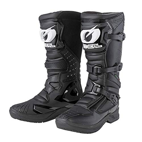 O'Neal | Botas de Motocross | Enduro de Motocross | Protección interior de tobillos, pies y zona de cambio, forro perforado, microfibra de alta calidad | Botas RSX | Adultos | Negro | Talla 43