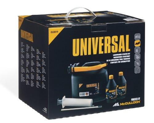 Todo lo que necesita para arrancar su cortacésped térmico de manera segura. Contenido: 2 x 0.6 litros de aceite de 4 tiempos jeringa y un bidón de 5 litros