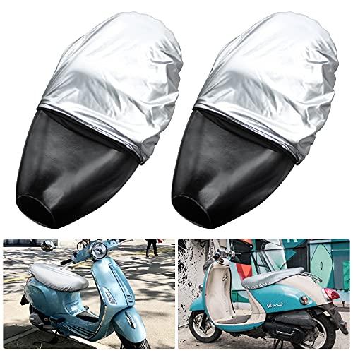 Protector Práctico de Cojín: Nuestra funda para sillín de moto es una funda de cojín especial para motocicletas. Puede ayudarlo a mantener el tapete limpio, evitar eficazmente que entre polvo en el tapete y puede prevenir los rayos ultravioleta, reduciendo así de manera efectiva la velocidad de envejecimiento del tapete. Materiales Confiables: La funda de asiento de motocicleta está hecha de cuero de alta calidad respetuoso con el medio ambiente. Este material no solo es duradero, resistente a la fricción, suave, suave y cómodo, sino que también tiene una buena elasticidad y una gran fuerza de tracción. No hay problema con el uso prolongado. Excelente Rendimiento a Prueba de Agua: La funda de asiento de cuero de moto tiene un efecto impermeable perfecto, por lo que esto significa que puede evitar eficazmente que las manchas de agua entren en el cojín y se puede utilizar con total tranquilidad incluso en días de lluvia. Además, también es fácil de limpiar, se puede limpiar rápidamente y luego seguir utilizándose. Conveniente Diseño de Velcro: La funda de asiento de scooter tiene el práctico diseño adhesivo de velcro de un botón. Durante la instalación, se puede desmontar y montar rápidamente sin la ayuda de ninguna otra herramienta de instalación, lo que puede ahorrar mucho tiempo. Buen Caucho Elástico: Nuestra impermeable funda de asiento de moto tiene un borde de goma altamente elástico. Esta funda del cojín del asiento de este tipo de diseño elástico tiene una aplicabilidad más fuerte. y puede envolver una variedad de tamaños de cojines de motocicleta, para que se adapte perfectamente a la mayoría de motocicletas y motocicletas eléctricas. Uso de automóviles y scooters etc.