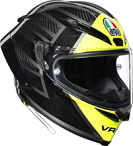 El casco racing 100% fibra de carbono utilizado por los pilotos de motogp