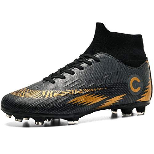 Donbest Botas de Futbol para Hombre Spike Zapatos de futbol Profesionales Aire Libre Calzado de Futbol Atletismo Zapatillas de Futbol