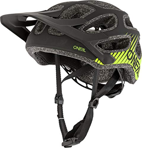O'NEAL | Casco de Bicicleta de Montana | MTB Downhill Freeride | Casco All-Mountain/Enduro, Ajuste Ajustable | Casco Thunderball Airy | Adulto | Negro Amarillo Neon | Talla M/57-XL/61